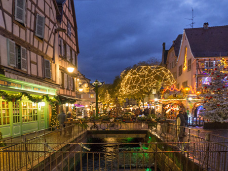 Colmar's Little Venice.  Photo copyrighted by P J Adams.  All rights reserved.