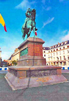 Orléans statue of Joan of Arc.  Copyright 2003-present Cold Spring Press.  All rights reserved.