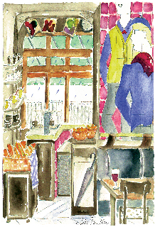 Café in Paris, by Jill Butler.  Copyright 2009.  All Rights Reserved.
