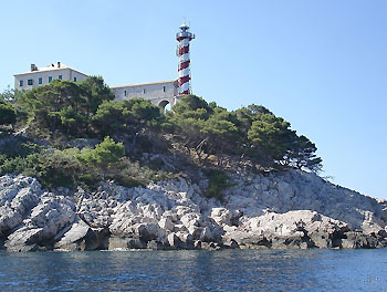 Lighthouse Tajer on Croatian coast.  Photo credit A J de Graaf.