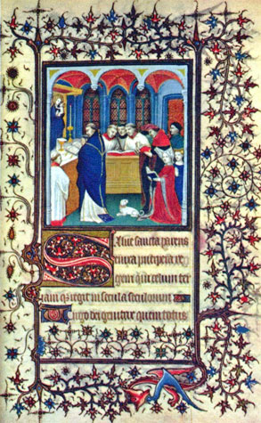 Illuminated Manuscript from the French Book of Hours.  Wikipedia