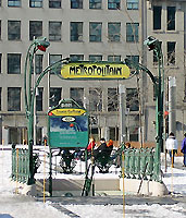 Montreal's Victoria Square Station (1967)  Photo  Wikipedia  Denis Jacquerye
