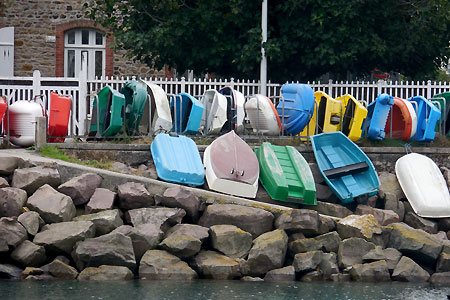 Dahouët Colorful Boats.   Coyright Cold Spring Press.  All rights reserved.